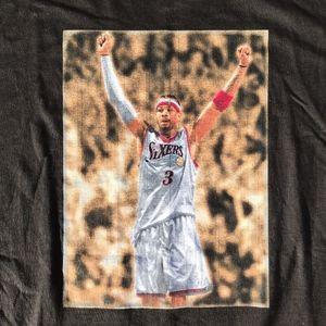 Allen Iverson 76ers Adidas Graphic Tee Sz XL
